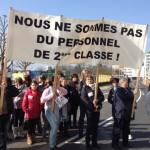 solidarité avec les femmes travaillant dans le secteur nettoyage