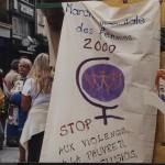 2000  Straßenstand Weltmarsch der Frauen